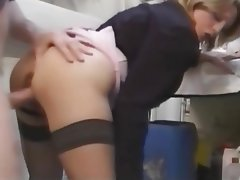 Blonde, French, MILF, Old and Young, Stockings