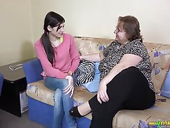 BBW, Lesbian, Old and Young, Granny
