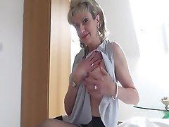 Pornstar, Big Boobs, Stockings, British