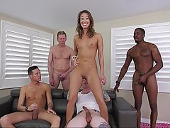 Interracial, Gangbang, Gangbang, Shaved