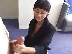 Asian, Cumshot, Handjob, Old and Young