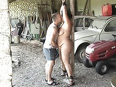 BDSM, Bondage, Old and Young, Orgasm, Outdoor